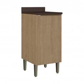 Balcão de Cozinha 40cm com Tampo 1 Porta Dubai 2934 Casamia - Nogueira