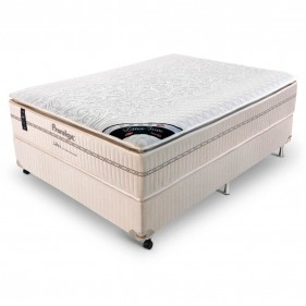 Cama Box Casal (Box + Colchão) Prorelax Látex Firm 138x188 Molas Ensacadas Pillow Turn Free