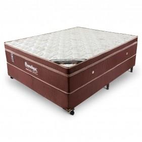 Cama Box Casal (Box + Colchão) Prorelax Mediterrâneo 128x188 Molas Ensacadas Euro Pillow - Marrom