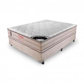 Cama Box Casal (Box + Colchão) Prorelax Ouro 138x188 Molas Ensacadas Pillow Top Viscoelástico