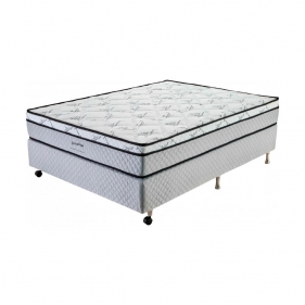 Cama Box Casal (Box + Colchão) Prorelax Pro Soft Bamboo 138x188 Euro Top Turn Free