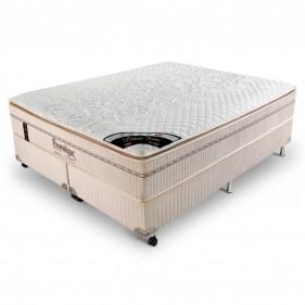 Cama Box King Size (Box + Colchão) Prorelax Látex Firm 193x203 Molas Ensacadas Pillow Turn Free
