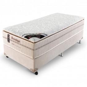 Cama Box Solteiro (Box + Colchão) Prorelax Látex Firm 78x188 Molas Ensacadas Pillow Turn Free