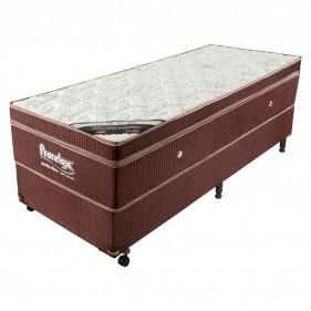 Cama Box Solteiro (Box + Colchão) Prorelax Mediterrâneo 78x188 Molas Ensacadas Euro Pillow - Marrom