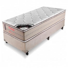 Cama Box Solteiro (Box + Colchão) Prorelax Ouro 78x188 Molas Ensacadas Pillow Top Viscoelástico