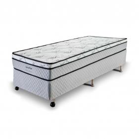 Cama Box Solteiro (Box + Colchão) Prorelax Pro Soft Bamboo 96x203 Euro Top Turn Free