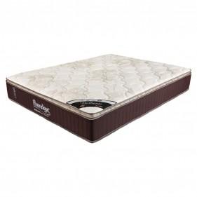 Colchão King Prorelax Brilhante 193x203x30 Molas Ensacadas Pillow Top Turn Free - Marrom