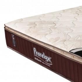Colchão Queen Prorelax Brilhante 158x198x30 Molas Ensacadas Pillow Top Turn Free - Marrom