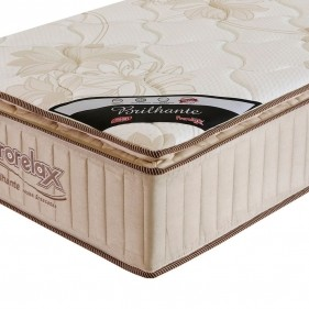 Colchão Solteiro Prorelax Brilhante 78x188x30 Molas Ensacadas Pillow Top Turn Free - Bege