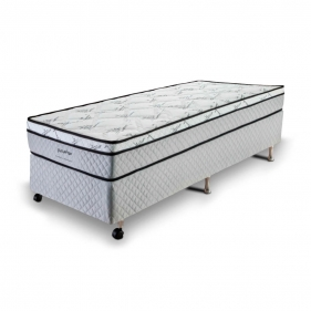 Cama Box Solteiro (Box + Colchão) Prorelax Pro Soft Bamboo 78x188 Euro Top Turn Free