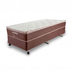 Cama Box Solteiro (Box + Colchão) Prorelax Pro Resistent 78x188 Pillow Top Turn Free