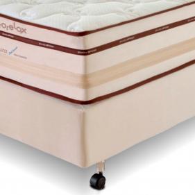 Conjunto Cama Box Prorelax Solteiro Pro Látex Gel Sense 78x188 Molas Ensacadas Euro Top Turn Free