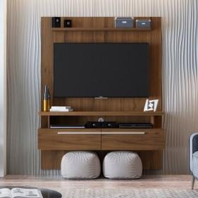 """Painel Home para TVs de até 60"""" New Caju Linea Brasil - Nogueira"""
