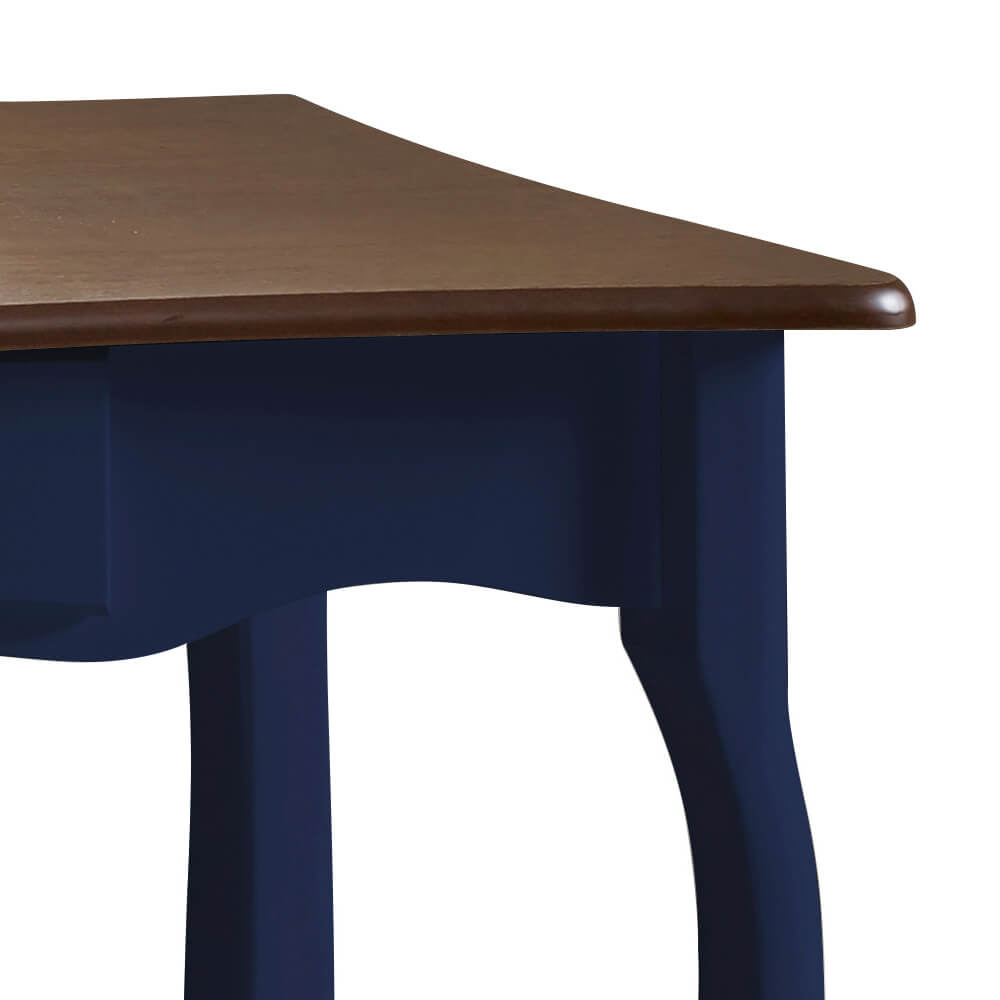 Aparador para Sala com Pés Luiz XV 1 Gaveta 1019 Linz Móveis - Azul Petróleo/Imbuia Glazer