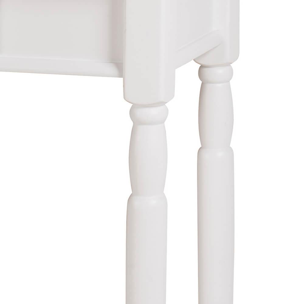 Aparador para Sala com Pés Torneados 1 Gaveta 634 Linz Móveis - Laca Branca/Imbuia Glazer
