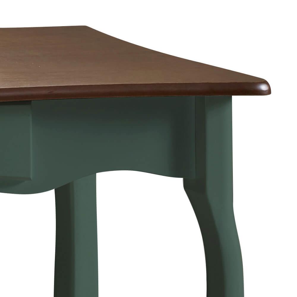 Aparador para Sala com Pés Luiz XV 1 Gaveta 1019 Linz Móveis - Verde Musgo/Imbuia Glazer