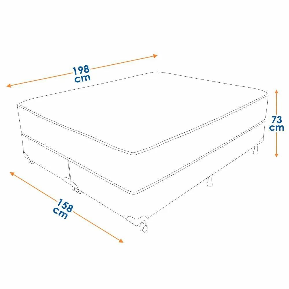 Cama Box Queen Size (Box + Colchão) Prorelax Látex Firm 158x198 Molas Ensacadas Pillow Turn Free