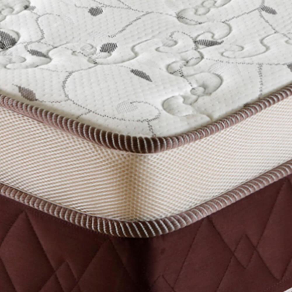Cama Box Solteiro (Cama + Box) Prorelax Prata 88x188 Molas Ensacadas Euro Top Duplo Double Face