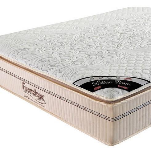 Colchão Casal Prorelax Látex Firm 138x188x36 Molas Ensacadas Pillow Top Látex Turn Free
