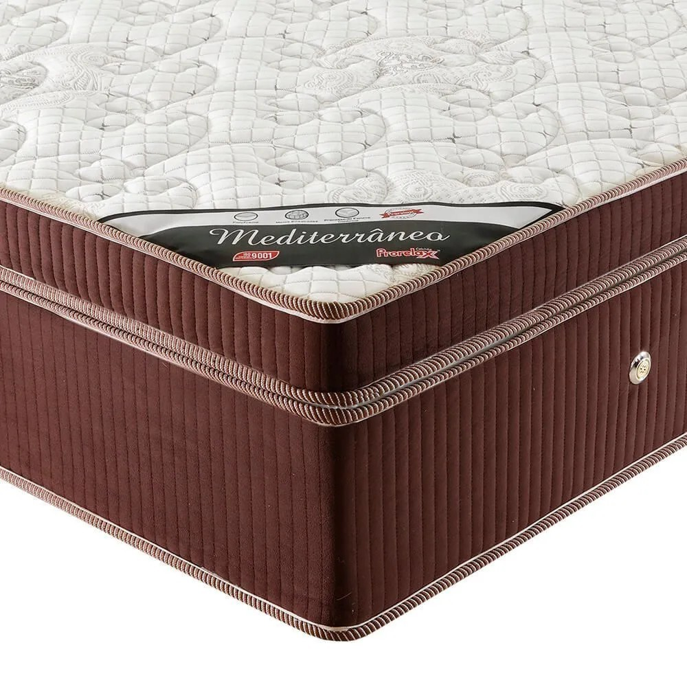 Colchão Casal Prorelax Mediterrâneo 138x188x32 Molas Ensacadas Euro Pillow Turn Free  - Marrom