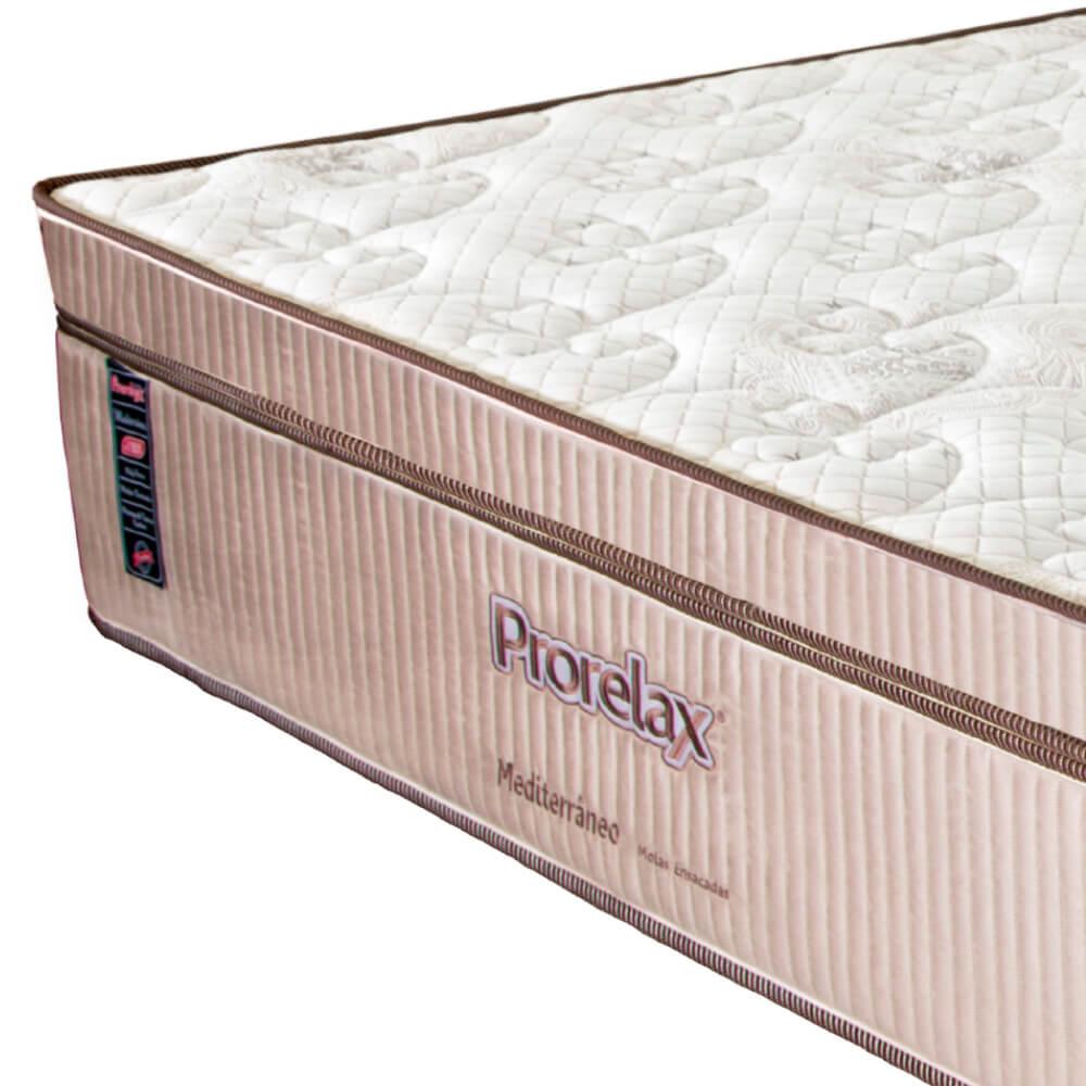 Colchão Casal Prorelax Mediterrâneo 128x188x32 Molas Ensacadas Euro Pillow Turn Free - Bege