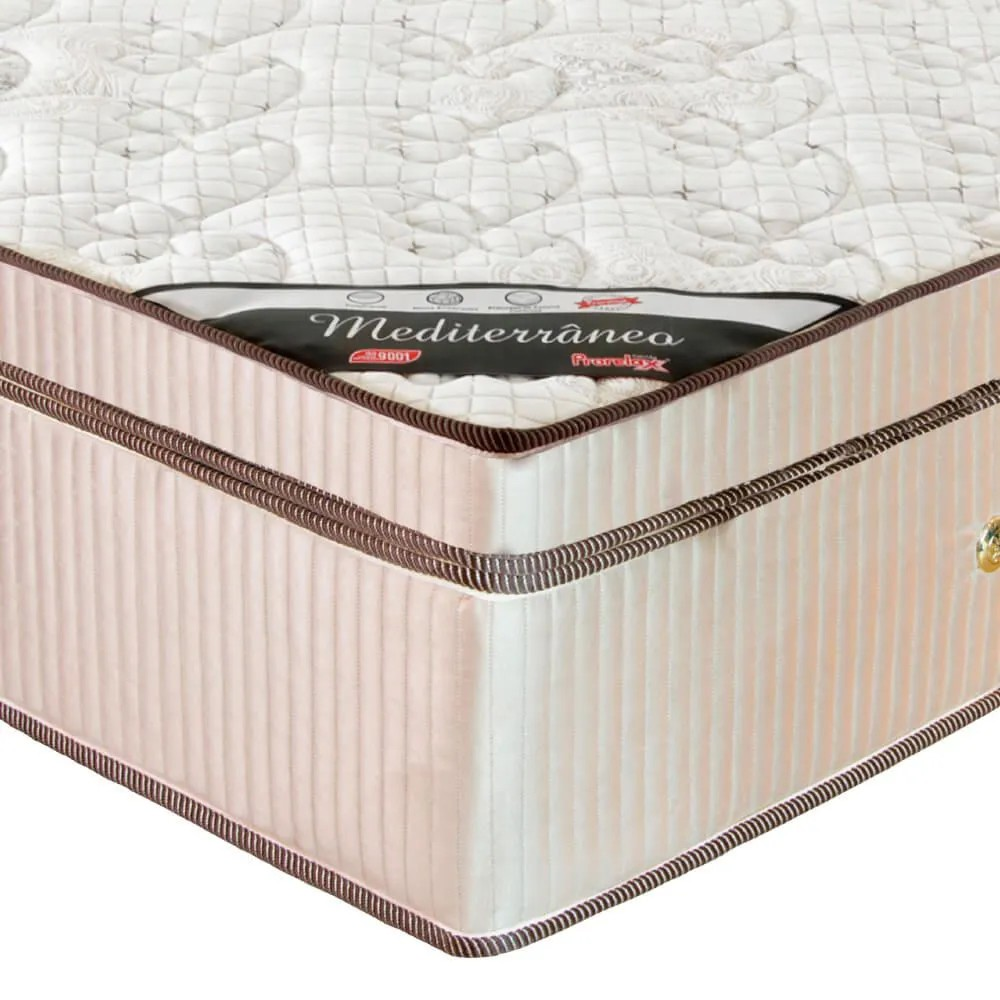 Colchão Queen Prorelax Mediterrâneo 158x198x32 Molas Ensacadas Euro Pillow Turn Free - Bege