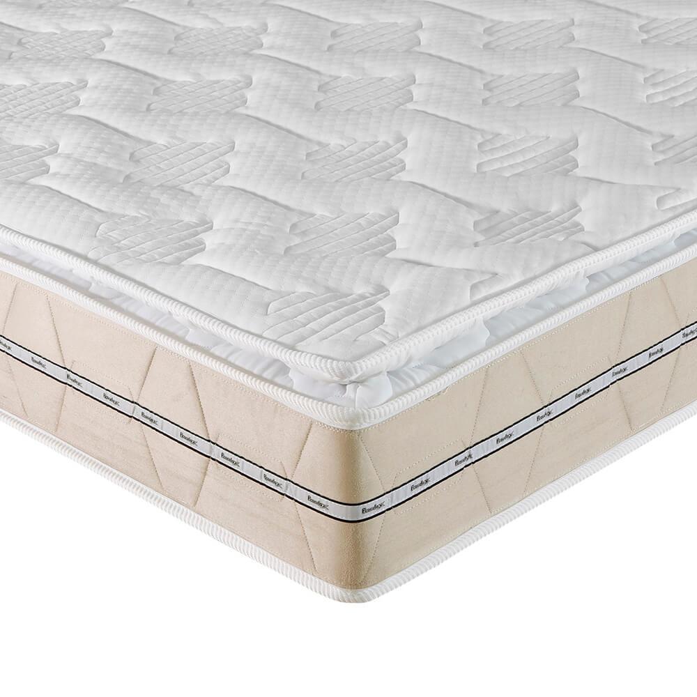 Colchão Queen Prorelax Bali 158x198x26 Molas Ensacadas Pillow Top Turn Free - Bege