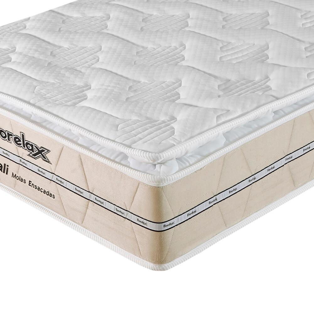 Colchão Solteiro Prorelax Bali 78x188x26 Molas Ensacadas Pillow Top Turn Free - Bege