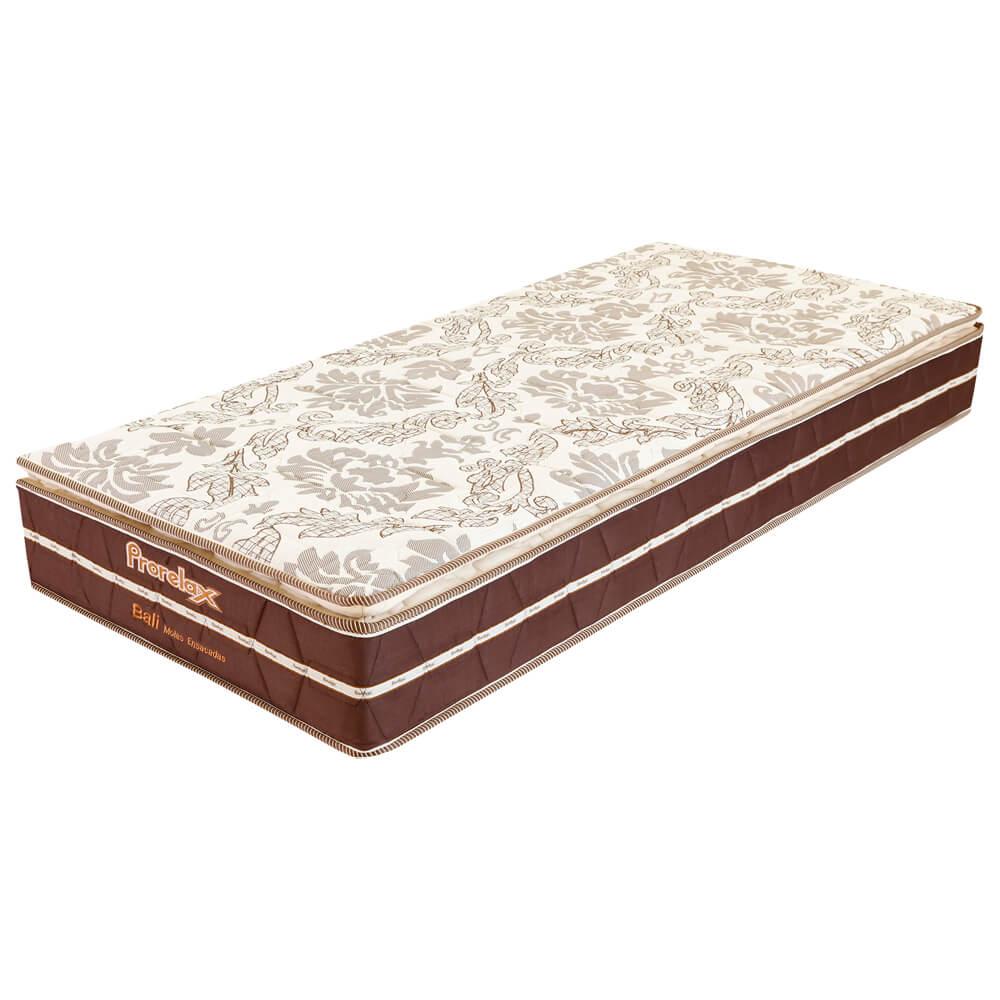 Colchão Solteiro Prorelax Bali 88x188x26 Molas Ensacadas Pillow Top Turn Free - Marrom