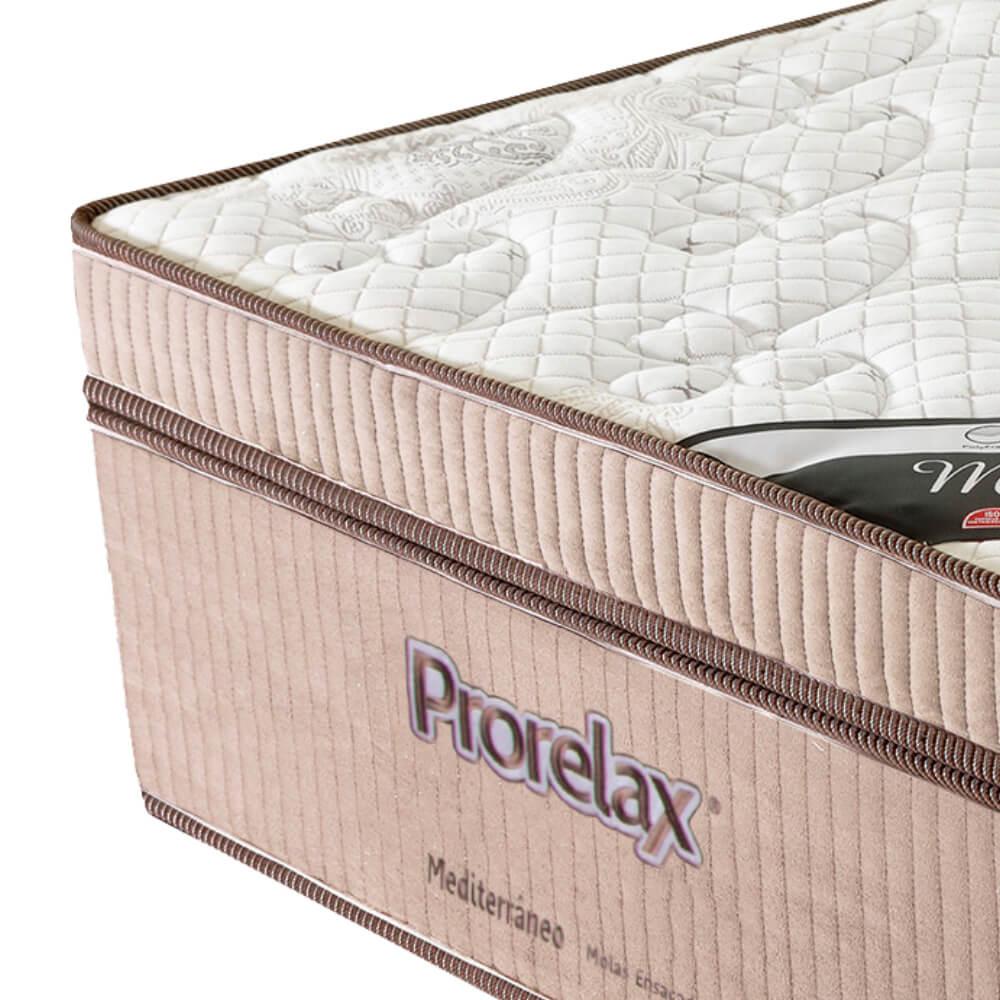Colchão Solteiro Prorelax Mediterrâneo 78x188x32 Molas Ensacadas Euro Pillow Turn Free - Bege