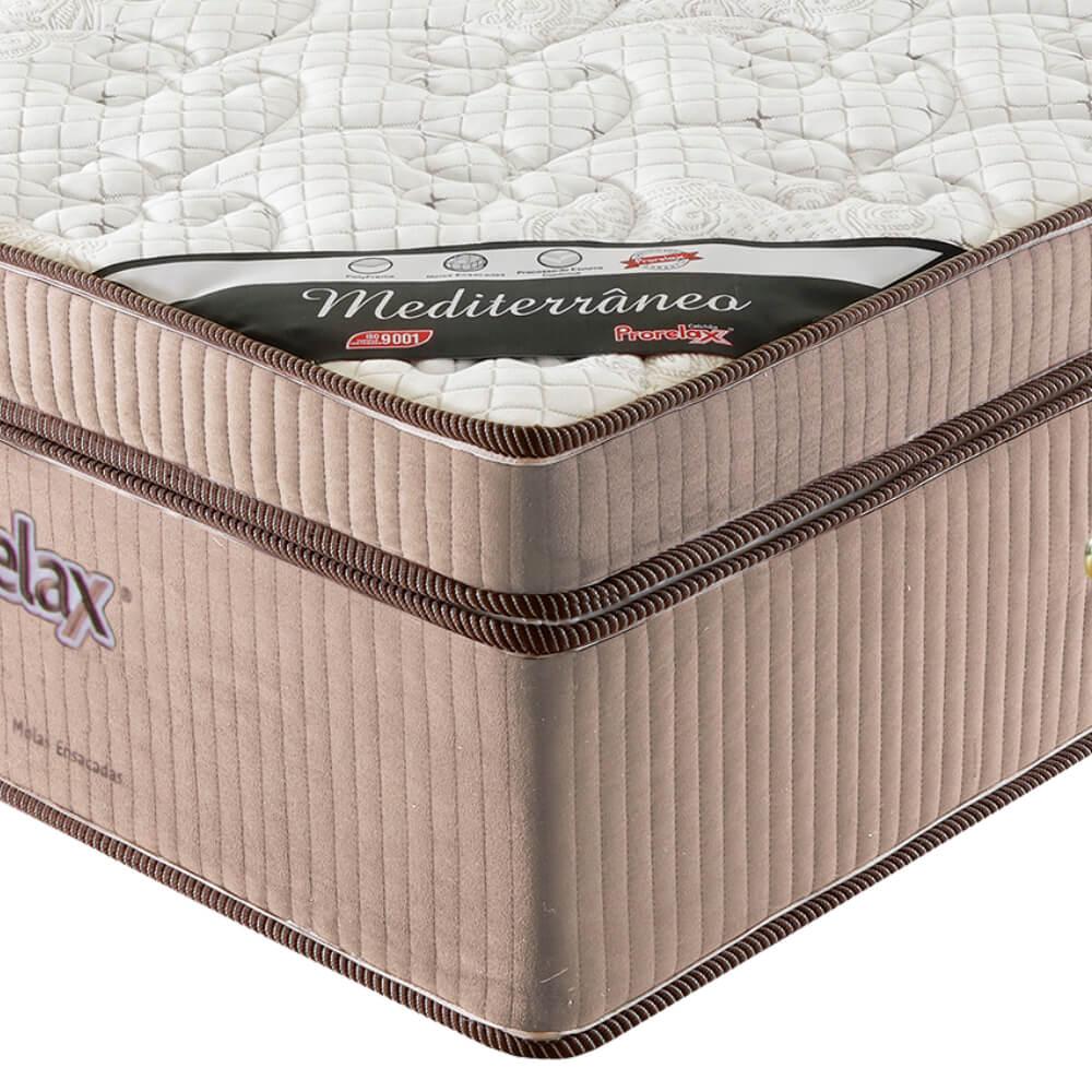 Colchão Solteiro Prorelax Mediterrâneo 88x188x32 Molas Ensacadas Euro Pillow Turn Free - Bege