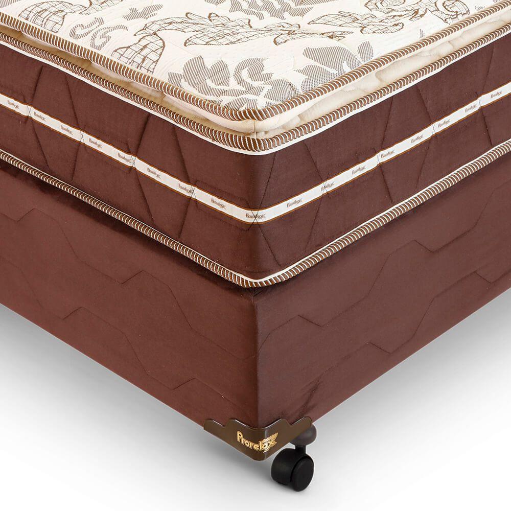 Cama Box Queen Size (Box + Colchão) Prorelax Bali Molas Ensacadas One Face 158x198