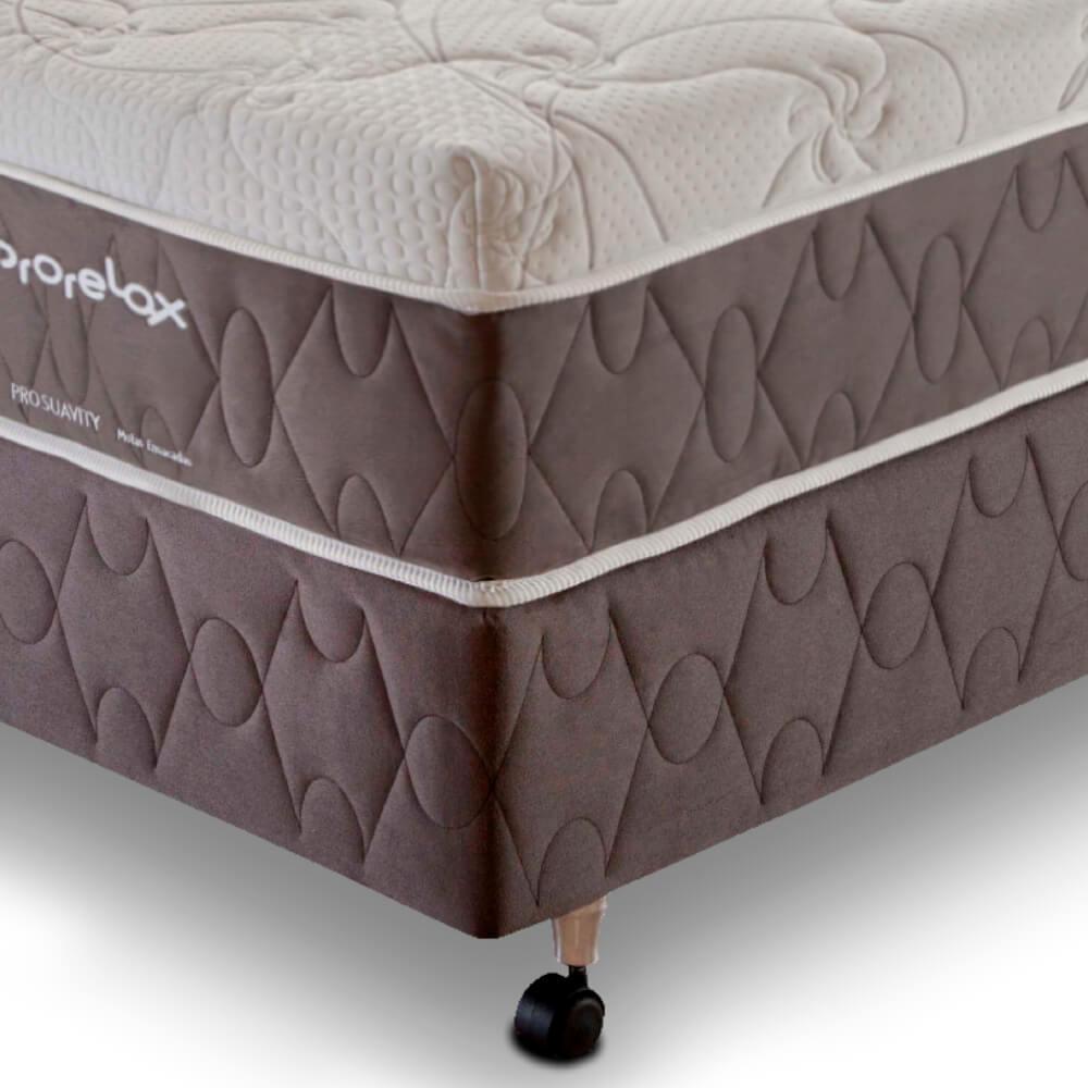 Cama Box Casal (Box + Colchão) Prorelax Pro Suavity 88x188 Pillow Top Turn Free