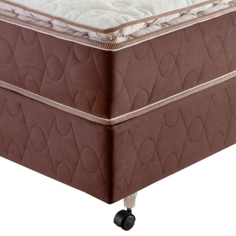 Cama Box Casal (Box + Colchão) Prorelax Pro Resistent 138x188 Pillow Top Turn Free