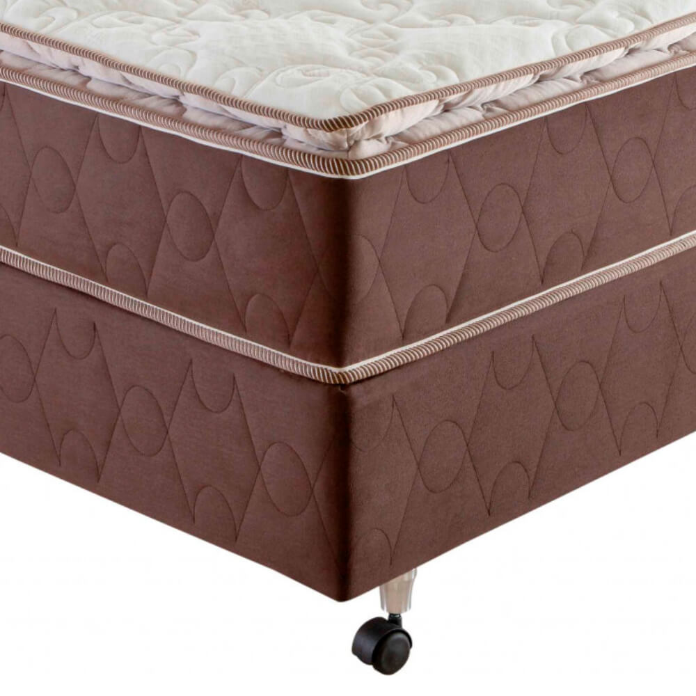 Cama Box King Size (Box + Colchão) Prorelax Pro Resistent 193x203 Pillow Top Turn Free