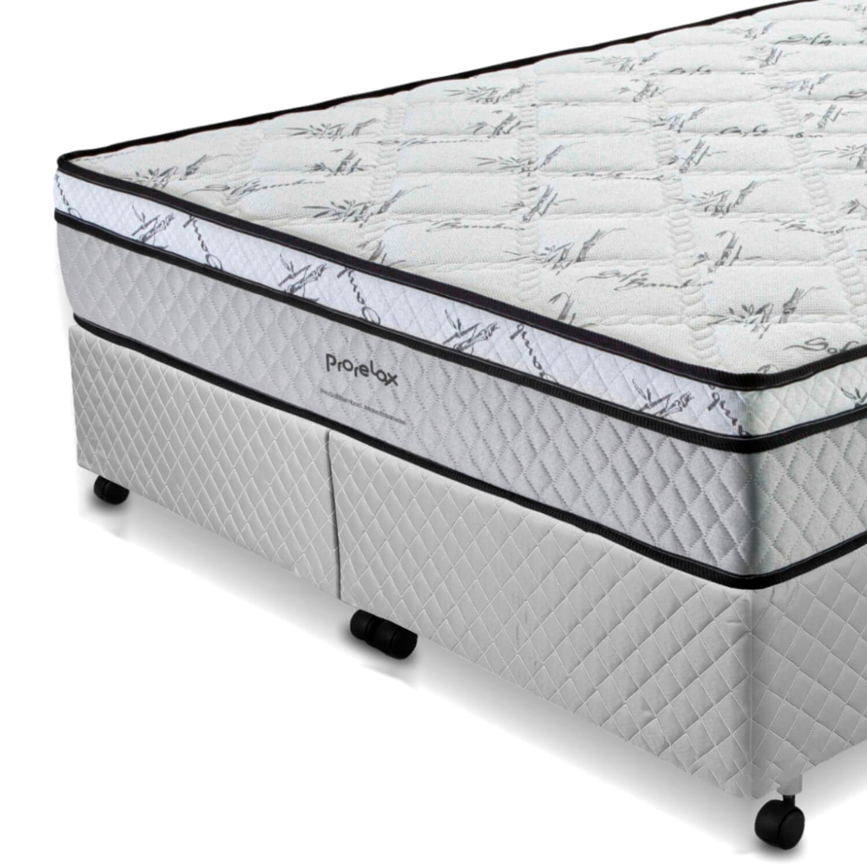 Cama Box King Size (Box + Colchão) Prorelax Pro Soft Bamboo 193x203 Euro Top Turn Free