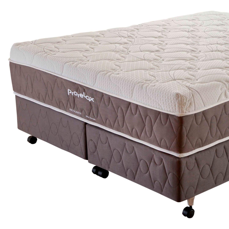Cama Box Queen Size (Box + Colchão) Prorelax Pro Suavity 158x198 Pillow Top Turn Free