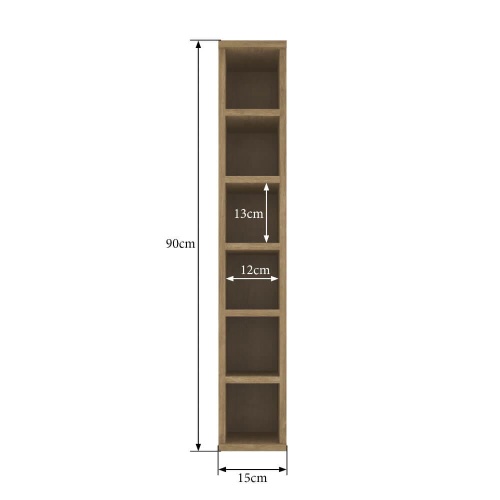 Nicho Aéreo Adega 15cm Cozinha Dubai 2920 Casamia - Nogueira