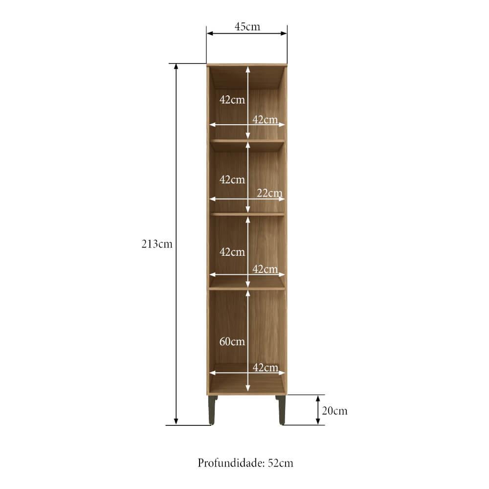 Paneleiro Cozinha Casablanca 3429 Casamia com 3 Portas e 3 Prateleiras - Mel/Off White