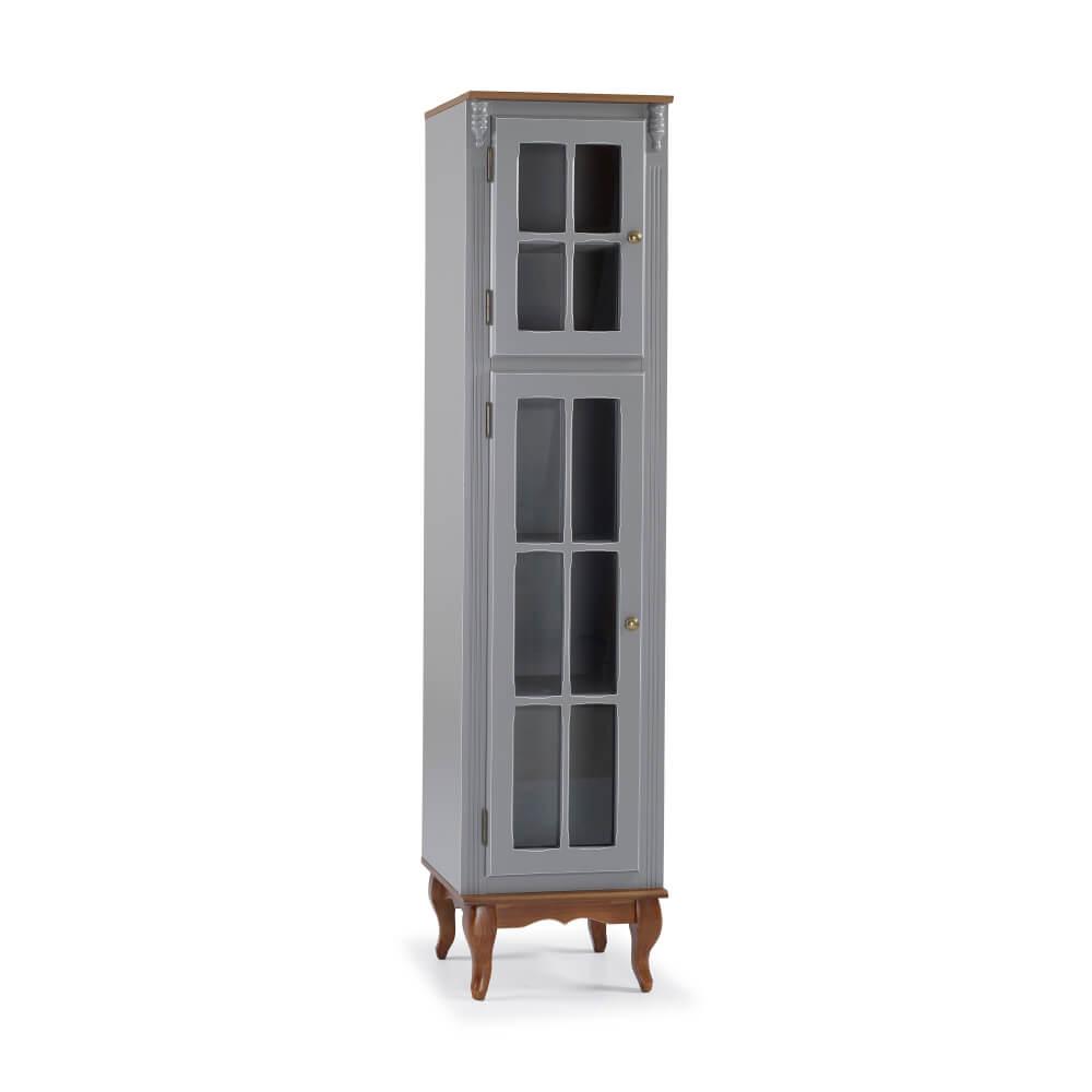 Paneleiro Cozinha Hannover 2 Portas de Vidro Pés Luis XV - Linz Móveis