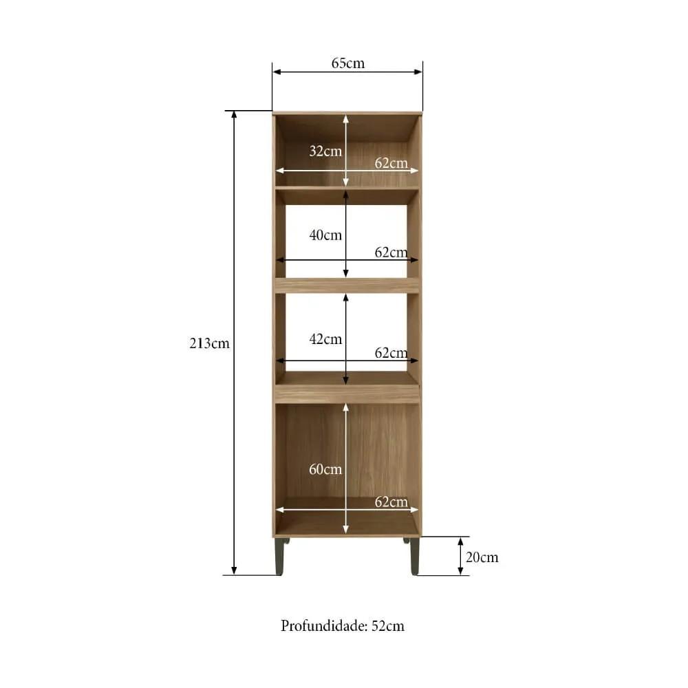 Torre Quente Cozinha Casablanca 3403 Casamia com 4 Portas Espaços para Forno e Micro-ondas - Mel/Off White