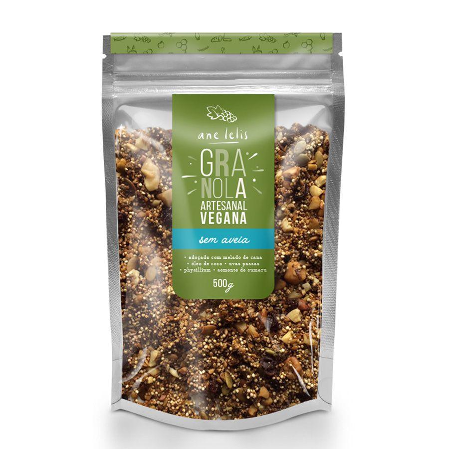 granola sem aveia vegana - 500g - Ane Lelis