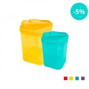 Açucareiro e Farinheiro Plásticos Zeek Linha POP