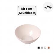 Kit com 12 Tigelas Cereal 750ml em Plástico Zeek Linha Style