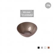 Kit com 12 Tigelas Sobremesa 300ml em Plástico Zeek Linha Style