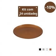 Kit com 24 Pratos Sobremesa em Plástico Zeek Linha Style
