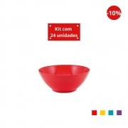 Kit com 24 Tigelas Cereal 750ml em Plástico Zeek Linha POP