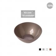 Kit com 24 Tigelas Cereal 750ml em Plástico Zeek Linha Style
