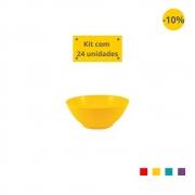 Kit com 24 Tigelas Sobremesa 300 ml em Plástico Zeek Linha POP