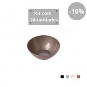Kit com 24 Tigelas Sobremesa 300ml em Plástico Zeek Linha Style